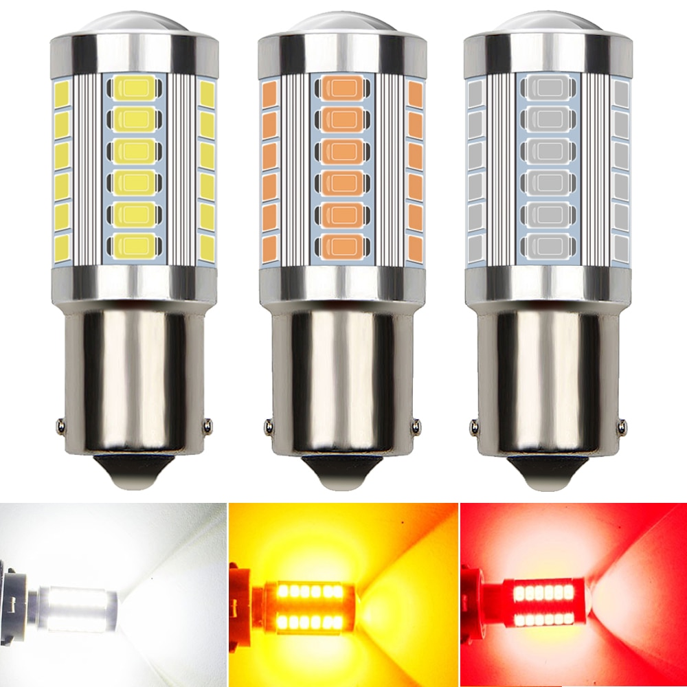 2x1156 ba15s p21w led canbus nenhum erro t20 7443 3157 led reverso lâmpada 5730smd para bmw audi vw benz kia branco vermelho laranja
