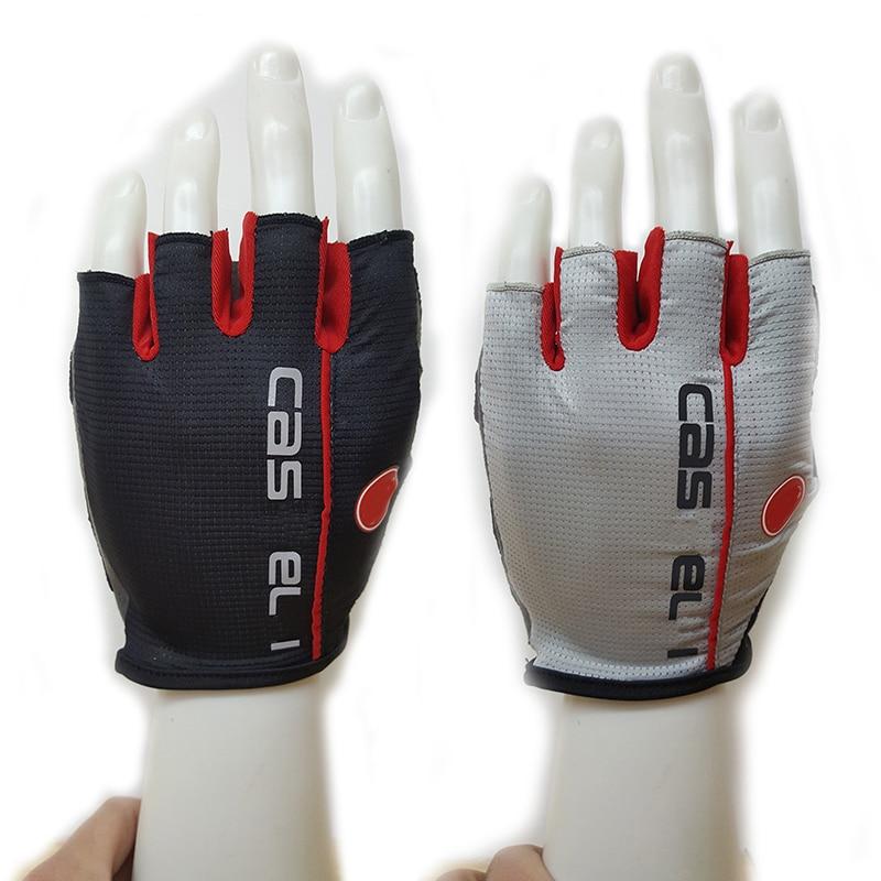 Luvas de treino de ginásio luvas de ciclismo para homens metade do dedo anti derrapante ciclismo luvas de desporto dos homens accesorio mujer