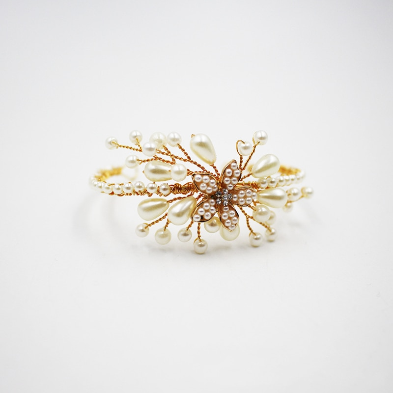 O582 Wedding bridal hair accessories handmade bridal faux pearl wrist band pearl flower jeweled wrist strap faux pearl espadrille flatform sliders