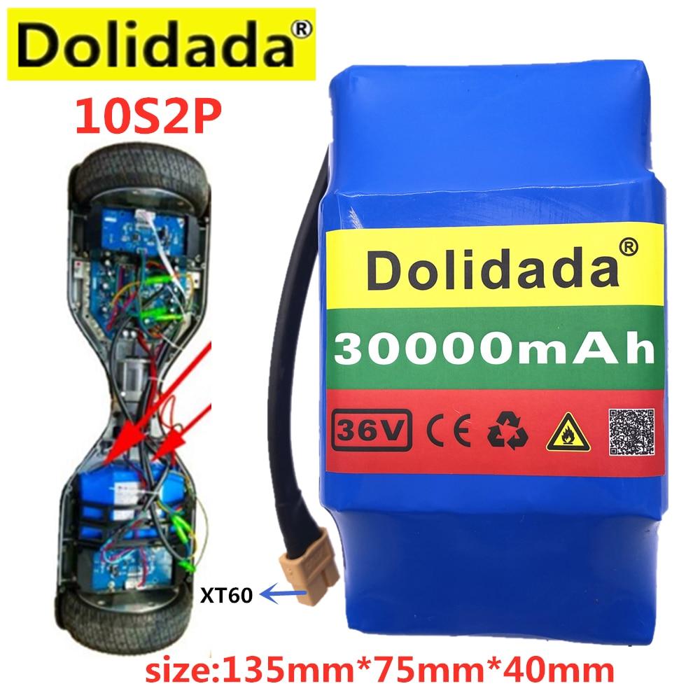 New in 2020 10S2P е-байка 36В Перезаряжаемые литий-ионный Батарея 30000 мА/ч, Батарея пакет для электрического самобалансирующегося Ховерборд всасыва...