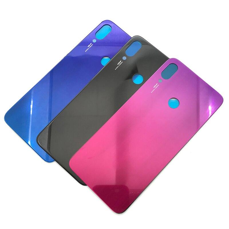 10 قطعة/الوحدة ، البطارية عودة زجاج غطاء ل Xiaomi Redmi ملاحظة 7 برو الخلفية باب البطارية الإسكان + Adheisve