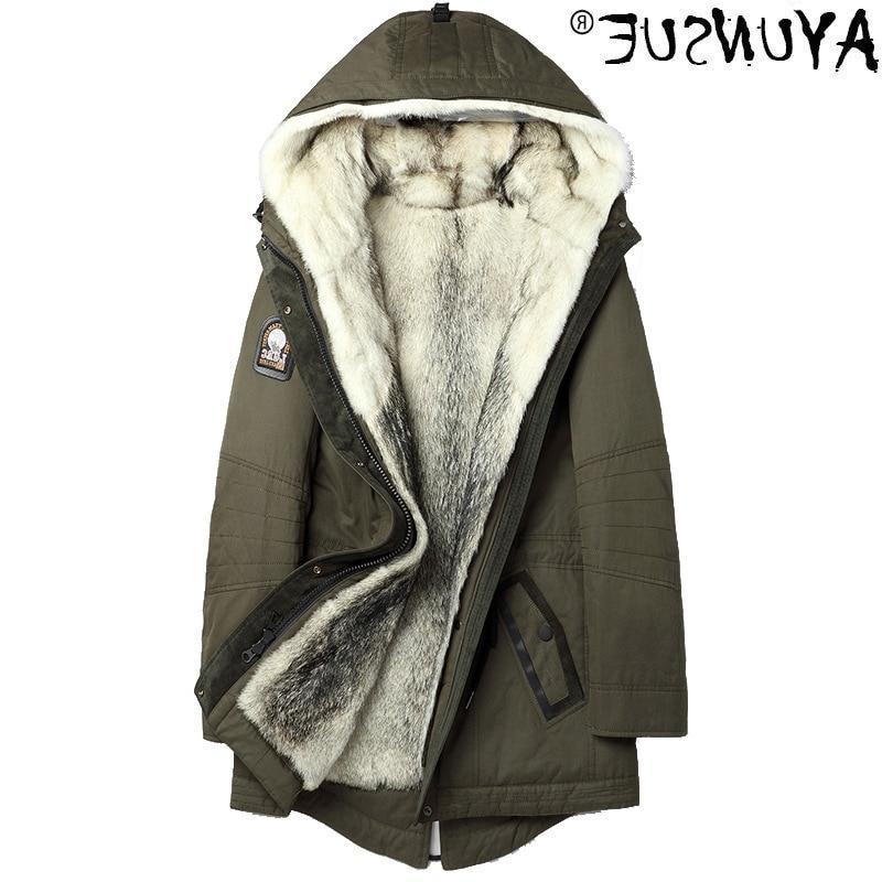 معطف رجالي الراكون الطبيعي ، سترة شتوية ببطانة من الفرو الطبيعي 2021 ، ملابس دافئة ، سترة