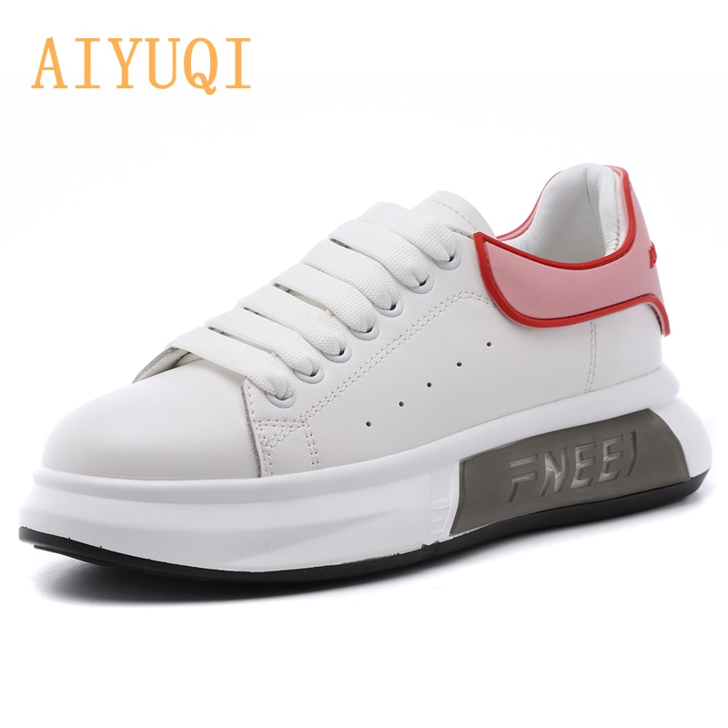 AIYUQI Women's Sneakers Shoes Large Size 41 42 43 Spring New White Sneakers Girls Thick Bottom Breathable Trendy Women's Shoes
