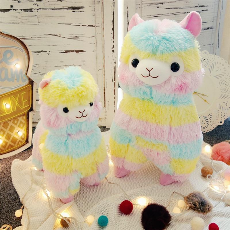 New rainbow Alpaca cute plush doll Alpaca plush doll children's doll Gift toys for children girlfriend недорого