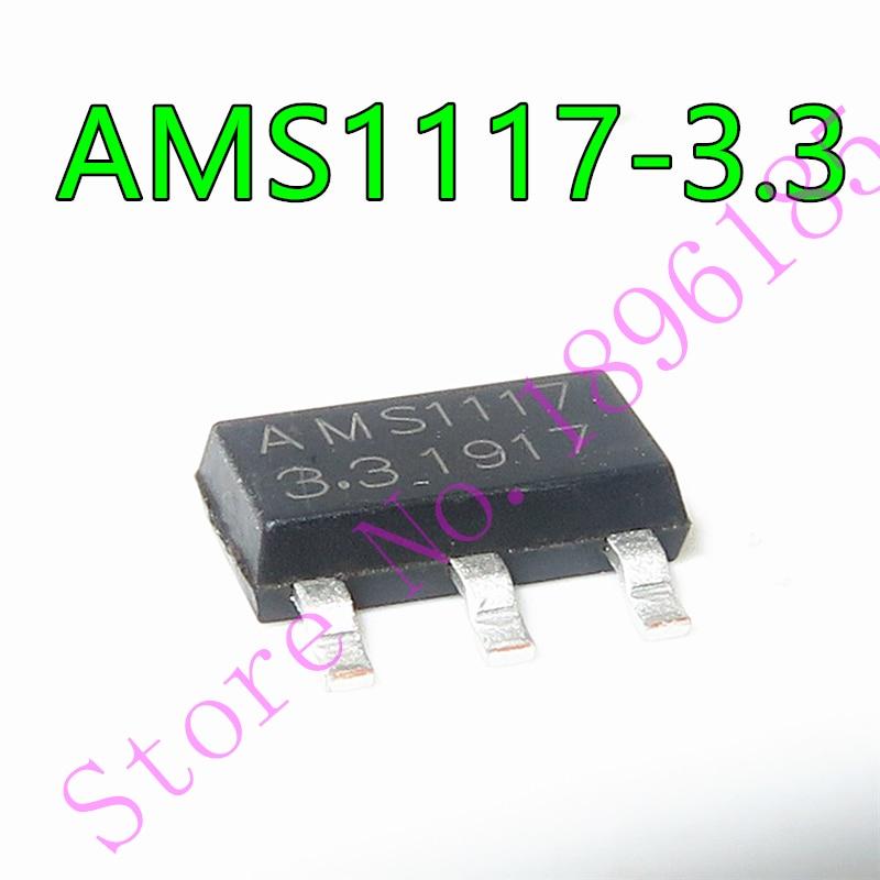 1 unids/lote AMS1117-3.3V AMS1117-3.3 AMS1117-ADJ SOT-233 en Stock