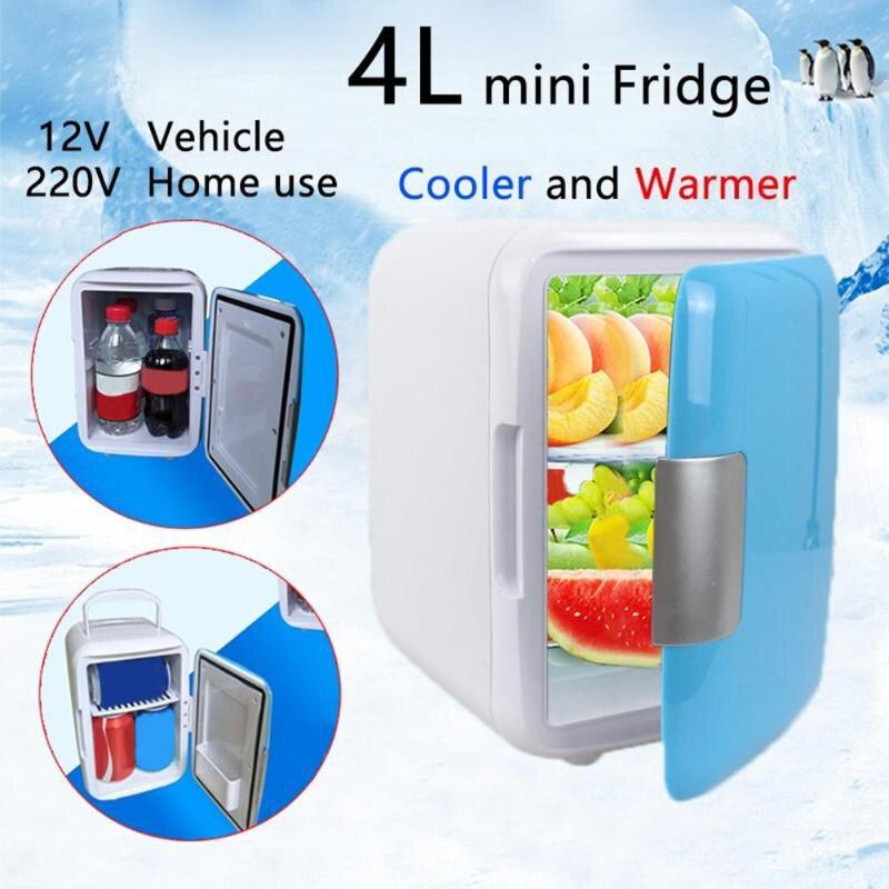 Mini Refrigerators Freezer Fridge Heating Box Cooling Ultra Quiet Home 4L Car Fridge Cosmetic Home Dormitory Rental House Use