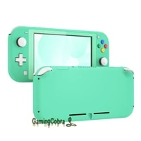 extremerate soft touch mint green diy replacement shell housing case cover with screen protector for ns switch lite