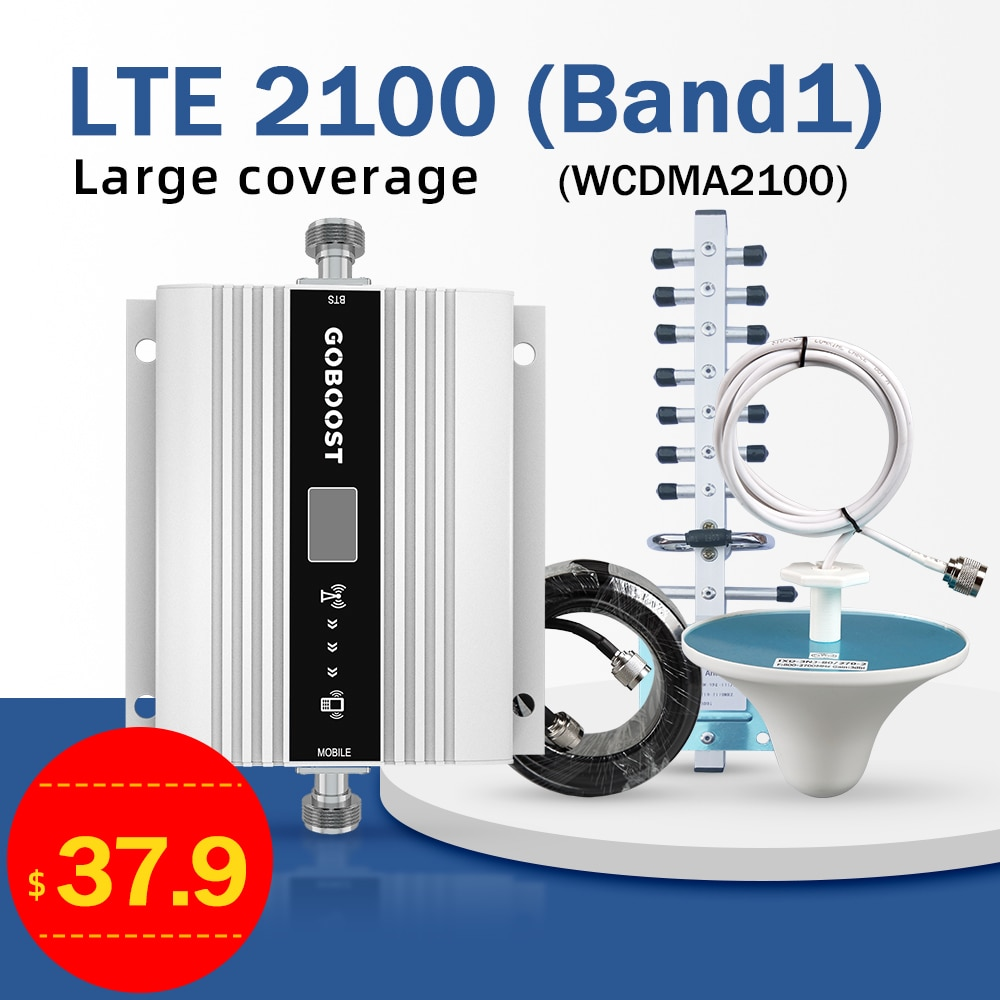 Усилитель сигнала 4G 2G 3G 4G, усилитель сотовой связи 900 1800 2100 GSM репитер 68 дБ LTE DCS 1800, комплект репитера мобильного сигнала