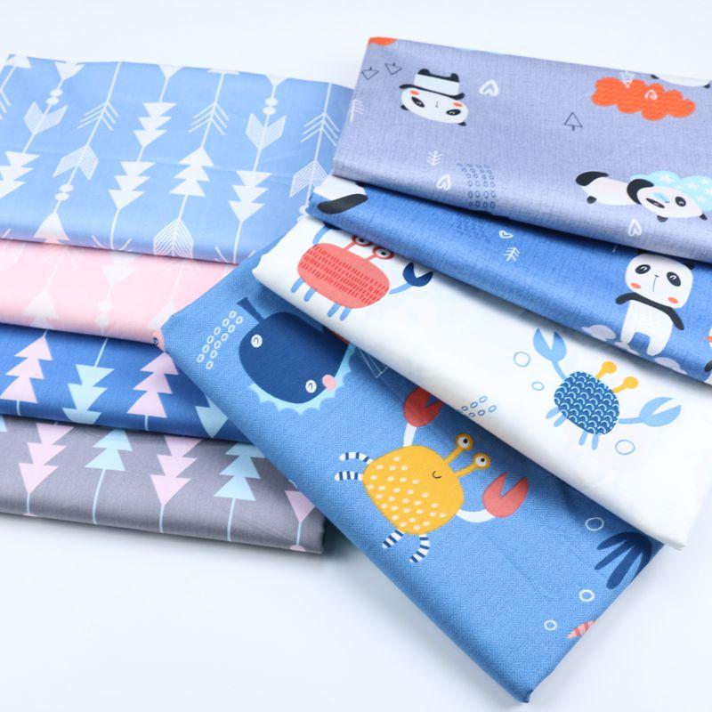 Diy Patchwork ropa colcha sábana almohada decoración del hogar grasa Quater Tissus Tilda 100% algodón tela por metro Animal de dibujos animados