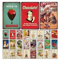 retro famous coffee tea chocolate tin metal signs vintage plaque plate music bar restaurant cafe home decor iron wall stickers