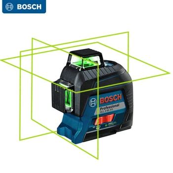 Bosch Laser Level 12/2 Lines Green Laser Self-Leveling Horizontal & Vertical Cross-Line Indoors and Outdoors GLL3-60XG GLL30G