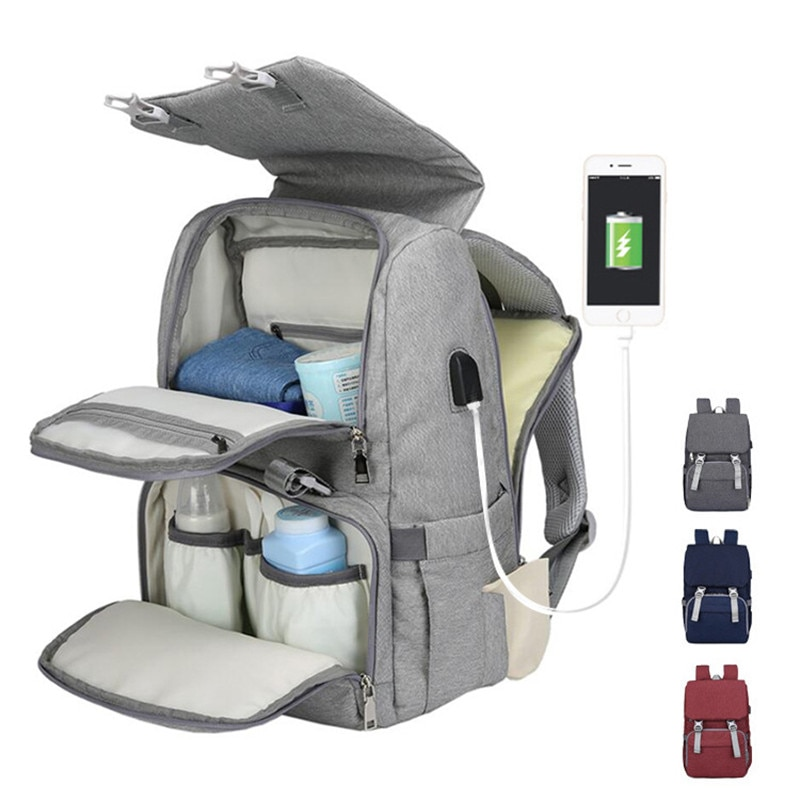 Diaper backpack bag mother large capacity bag mother baby multifunctional waterproof outdoor travel diaper bag baby care bag недорого