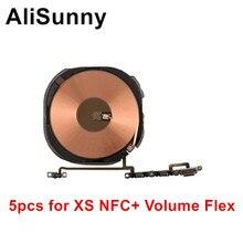 AliSunny 5pcs Wireless Charging Chip NFC Spule für iPhone X XR XS Max Ladegerät Panel Aufkleber WPC Pad Mit volumen flex Kabel Teile