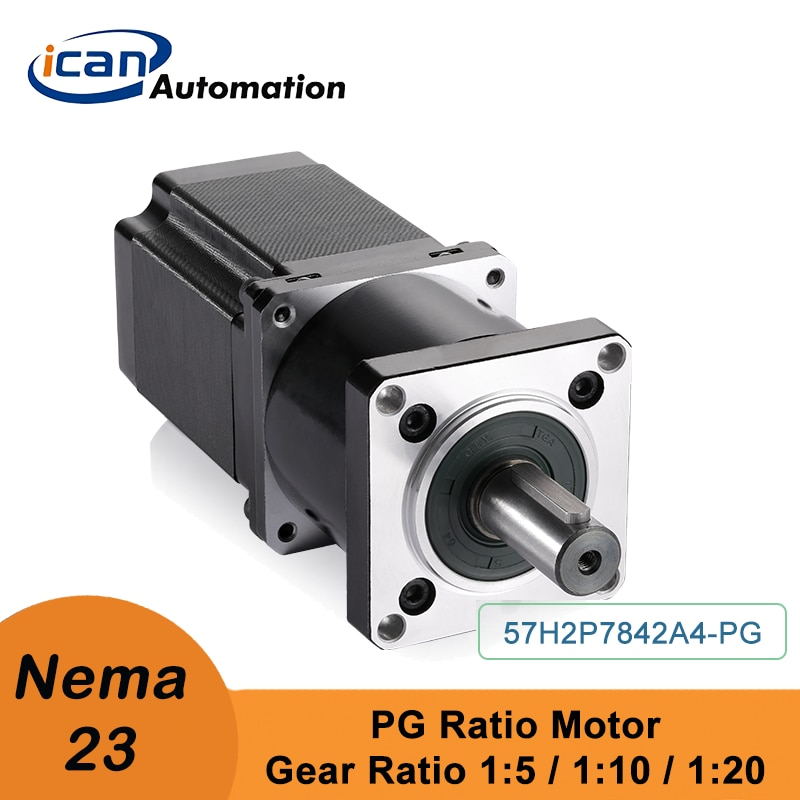 ICAN خطوة المحرك مع علبة التروس الكوكبية Nema23 9Nm 18Nm 36Nm Ratio5 10 20 الميكانيكية ذراع الروبوت المحرك