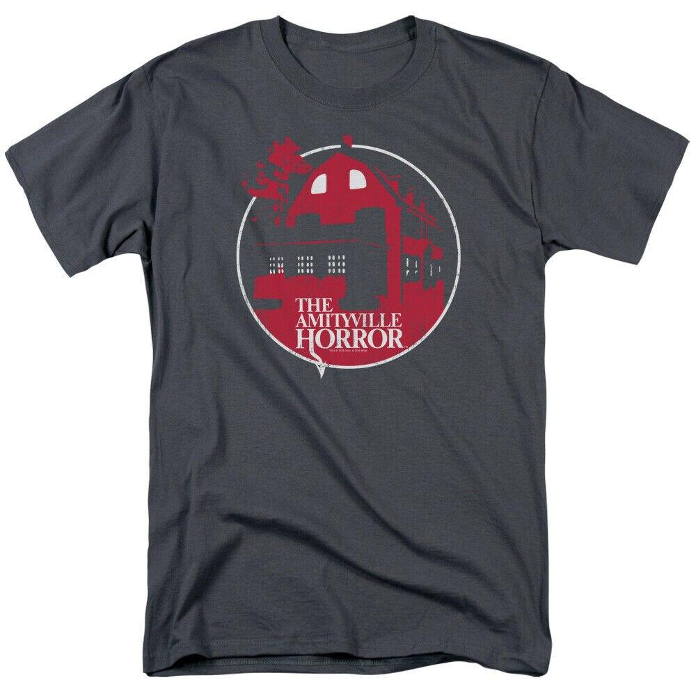 Camiseta para adultos con licencia de la casa roja del Horror de Amityville