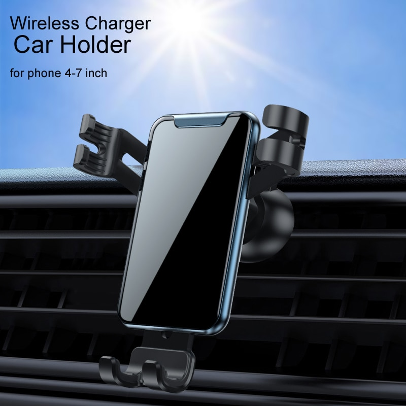 15w Car Phone Holder Qi Wireless Charger For IPhone 12 X Samsung S20 S10 S9 S8 Phone Holder Car Phon