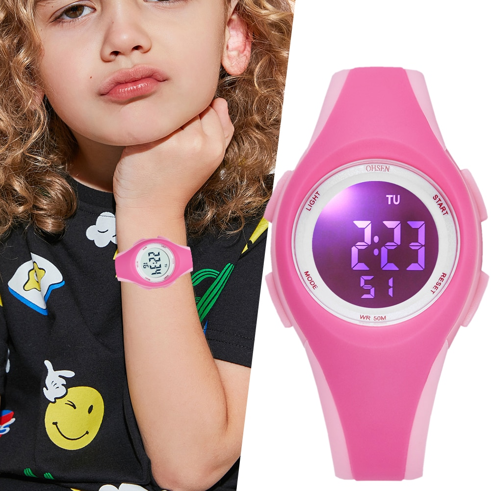 Children Watch Waterproof Led Display Sports OHSEN Digital Kids Watches Silicone Band Wristwatches Girls Gifts Relogio Feminino