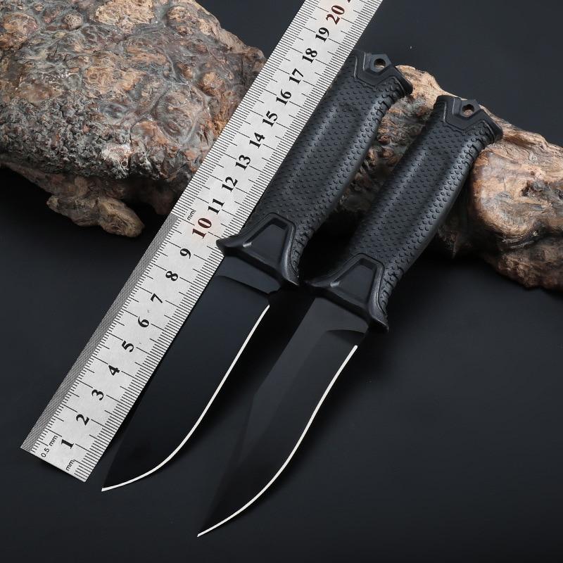 Alta fijación de carbono cuchilla de acero inoxidable FRN reforzado con fibra de vidrio, nylon de camping al aire libre supervivencia útil para fruta cuchillo herramientas EDC