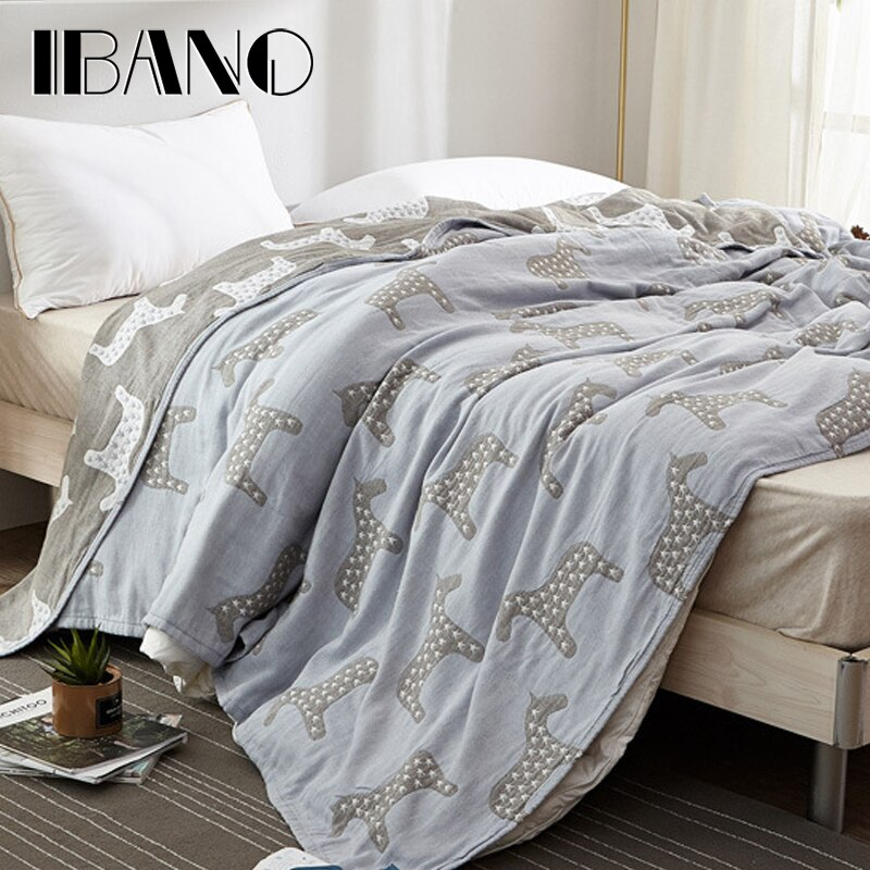 IBANO 100% algodón unicornio Jacquard manta Para sofá cama viaje transpirable Chic Mandala estilo grande suave manta Para tirar