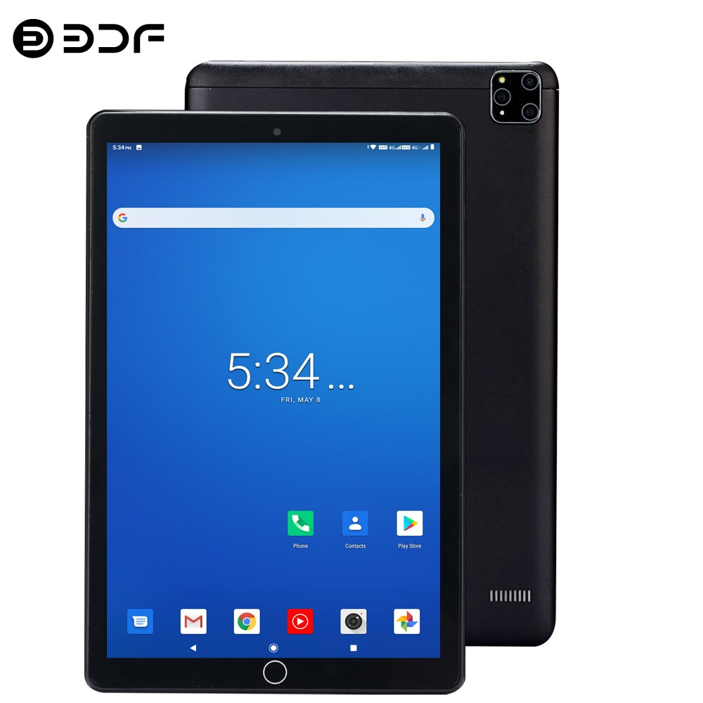 BDF A10 Newest 10.1 Inch Tablets Android 9.0 Octa Core 5MP Rear Camera Dual 4G Phone Call Type-C GPS Bluetooth Wifi Tablet Pc