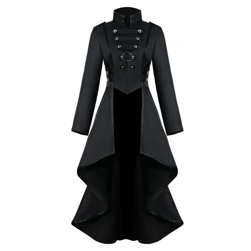 2019 Women Gothic Tailcoat Jacket Steampunk Tuxedo Suit Corset Halloween Costume Outfits Ladies Casual Jacket Coat