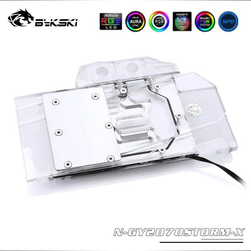 Bykski Full Coverage RGB/A-RGB GPU Water Block For VGA  Gainward RTX2070 Storm/GALAX RTX2060 SUPER (1-Click OC) Graphics Card