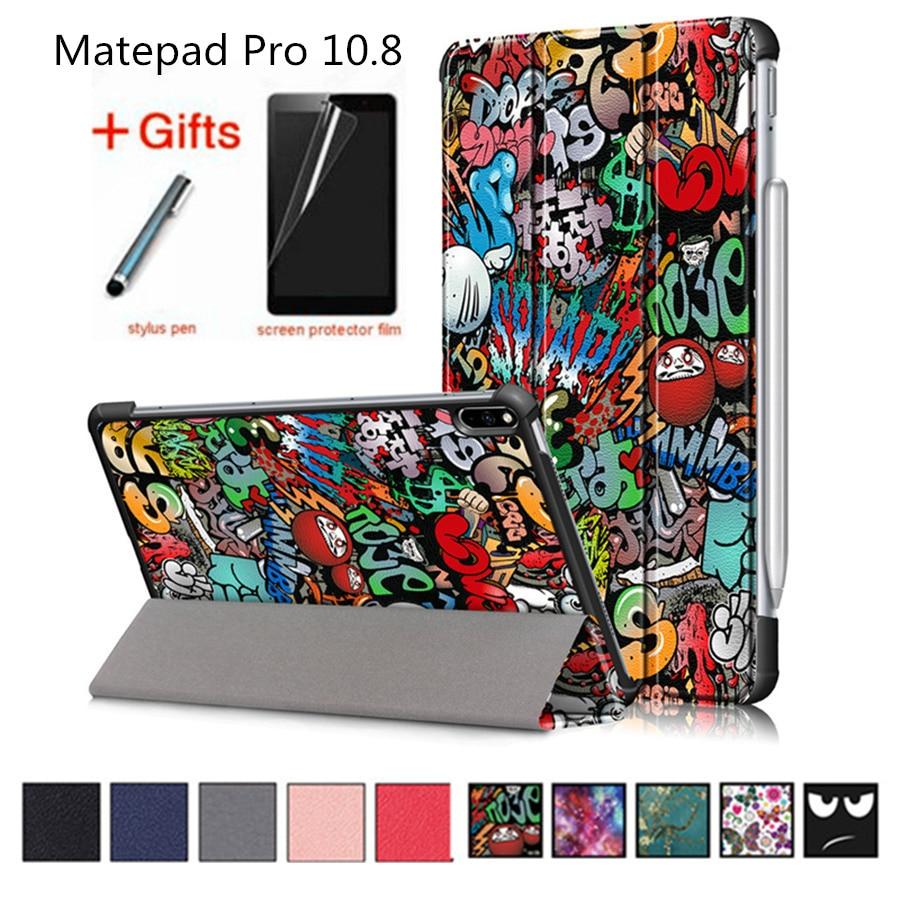 Case For Huawei Matepad Pro 10.8 Smart Cover MRX-W09 MRX-AL09 Funda Slim Magnetic Folding PU Leather Stand Skin Shell +Film+Pen