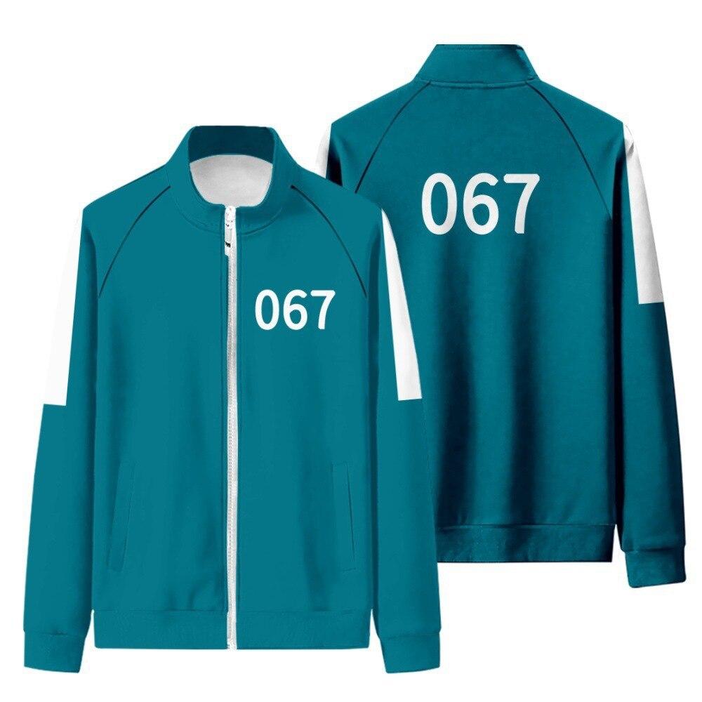Костюм для косплея из игры «Игры кальмар» 067 Kang Sae byeok Yaoi 240 Ji yeong Round Six 456 Seong Gi Hun, куртка, футболка, толстовки, штаны, наряд
