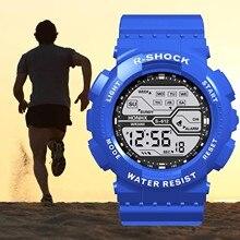 Sport Watch Men Waterproof Lcd Digital Wristwatches Stopwatch Date Rubber Sport Wrist Electronic Wat