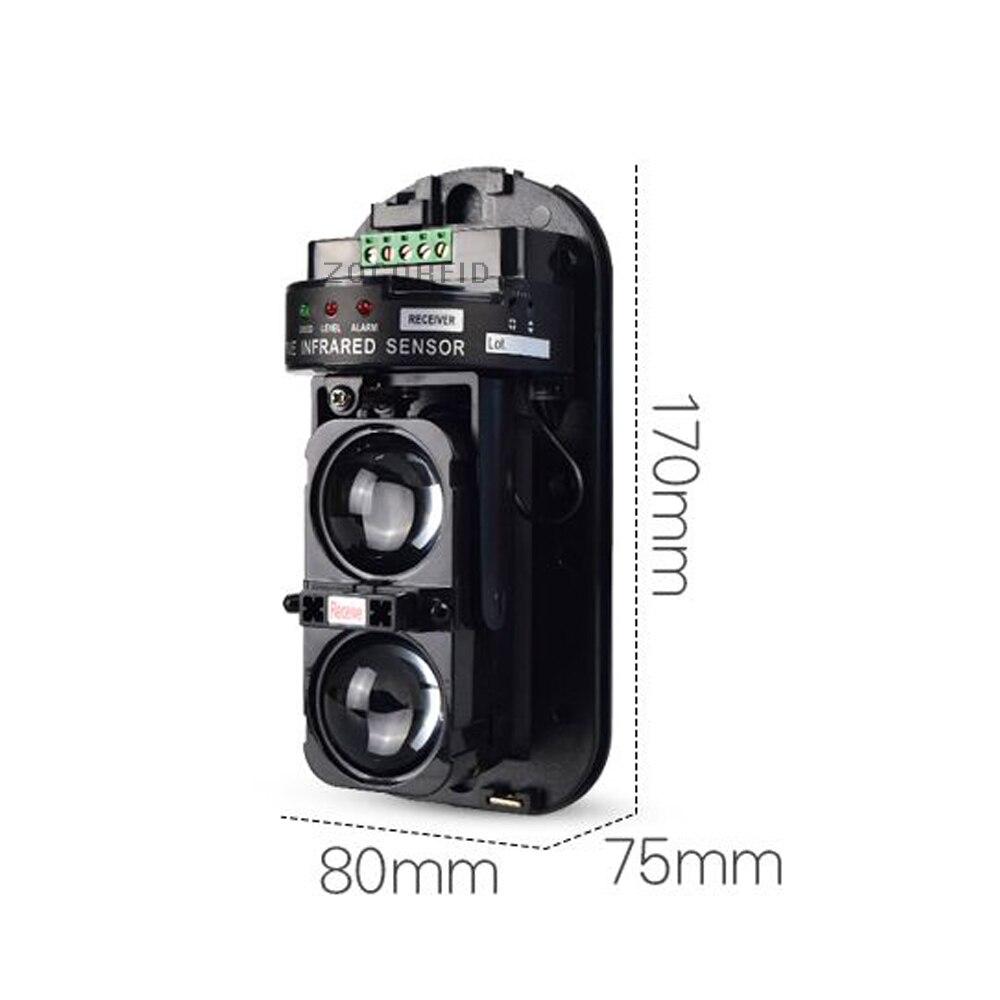 Dual Strahl Sensor Aktive Intrusion Detector IR 30m ~ 150m Outdoor Perimeter Wand Barriere Zaun für GSM alarm