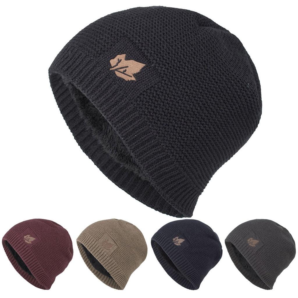 25# Beanie Hat Шапка Men Women Winter Down Headgear Solid Color Pile Skullies Warm Cap Earmuffs Hats For Men Шапка Женская недорого