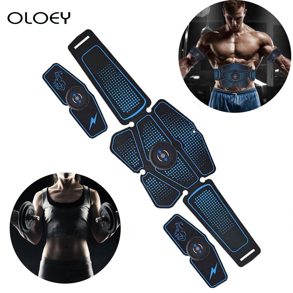 Electroestimulación Estimulador Muscular ejercitador de cadera EMS Abdominal cinturón vibrador ABS Muscular masaje gimnasio Fitness en casa de prec