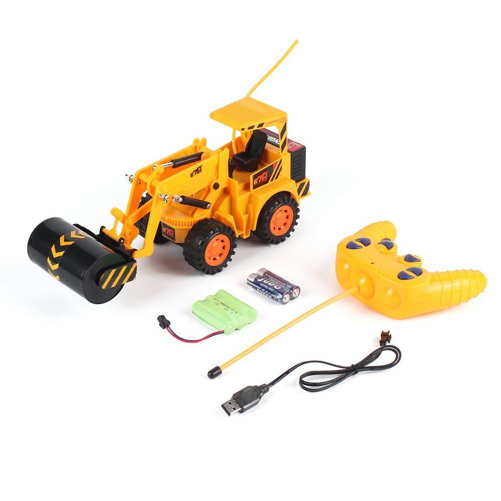 2020 nuevo Control remoto 5CH truco RC construcción excavadora simulación tractores vehículos de Ingeniería Eléctrica juguete de regalo para niños