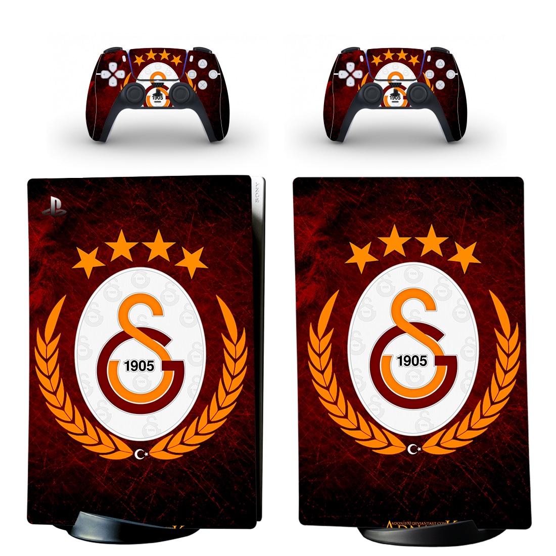 Galatasaray PS5 طبعة رقمية لواصق الجلد غطاء لوحدة التحكم بلاي ستيشن 5 ووحدات تحكم PS5 ملصق الفينيل