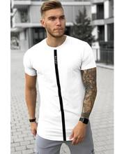 T-Shirt à col rond à séchage rapide en coton Sik pour hommes T-Shirt à manches courtes décontracté à rayures extensibles pour hommes
