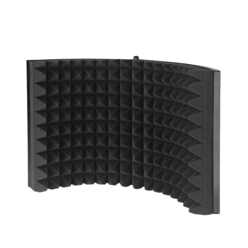 تسجيل استوديو شاشة الرياح ميكروفون الزجاج الأمامي ميكروفون شاشة عازلة للصوت الصوت غطاء الضوضاء غطاء منع الضوضاء