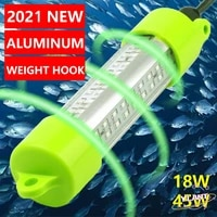 ip68 aluminum high power led fish attracting bait submersible underwater fishing light 18w 45w dc 12v green white blue yellow