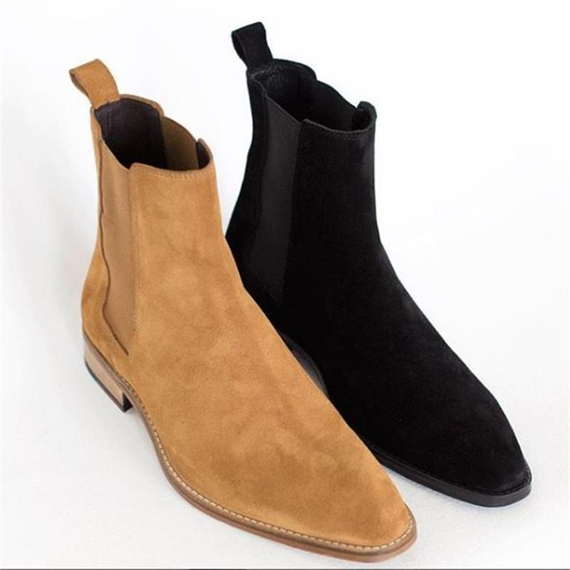 موضة الرجال الجلد المدبوغ أحذية من الجلد عالية الجودة ريترو بلون الانزلاق على أحذية رجالية أحذية عادية موضة Zapatos دي Hombre HA941