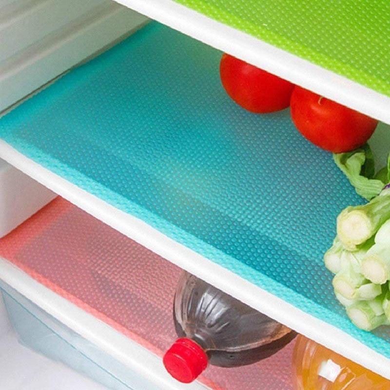12 Pack Refrigerator Mats,Washable Fridge Mats Liners Waterproof Fridge Pads Mat Shelves Drawer Table Mats Refrigerator Liners f