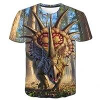 jurassic park dinosaur t shirt boy clothes childrens t shirt animal baby t shirt childrens short sleeved girl fun costume