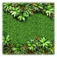 artificial background plant fake leaves flower wall hanging plastic grass diy decorative garden indoor home natural decoration