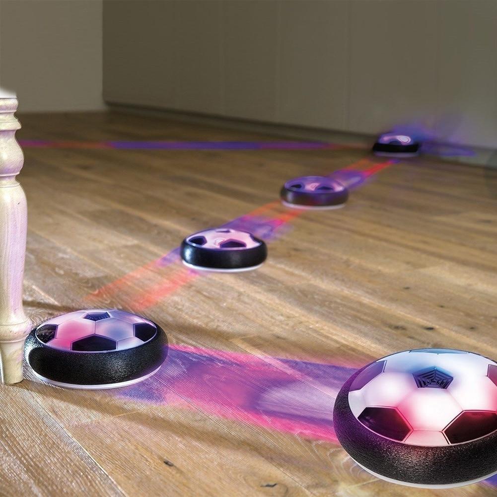 Новые детские подвесные футбольные мячи Levitate, воздушная подушка, плавающая ткань со светодиодный светильник кой, плавучие игрушки, футболь...