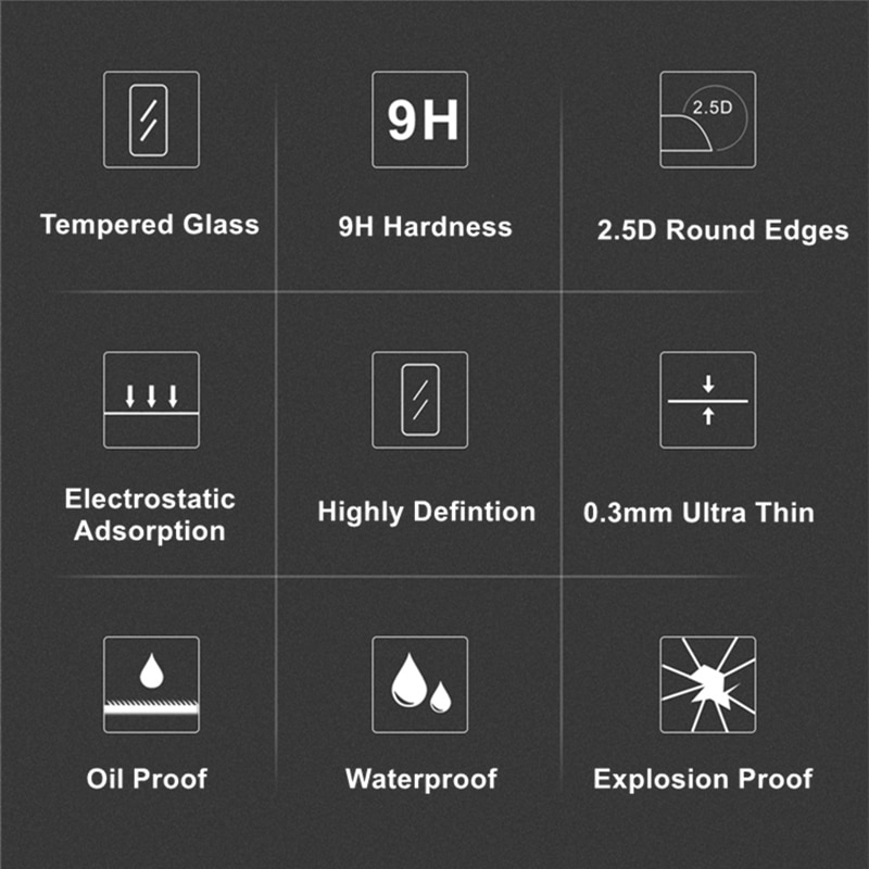 2PCS Camera Original 9H Camera Tempered Glass LCD Screen Protector for Canon EOS G7X G7XII G7X3 G5X G5XII G9X G9XII Camera enlarge