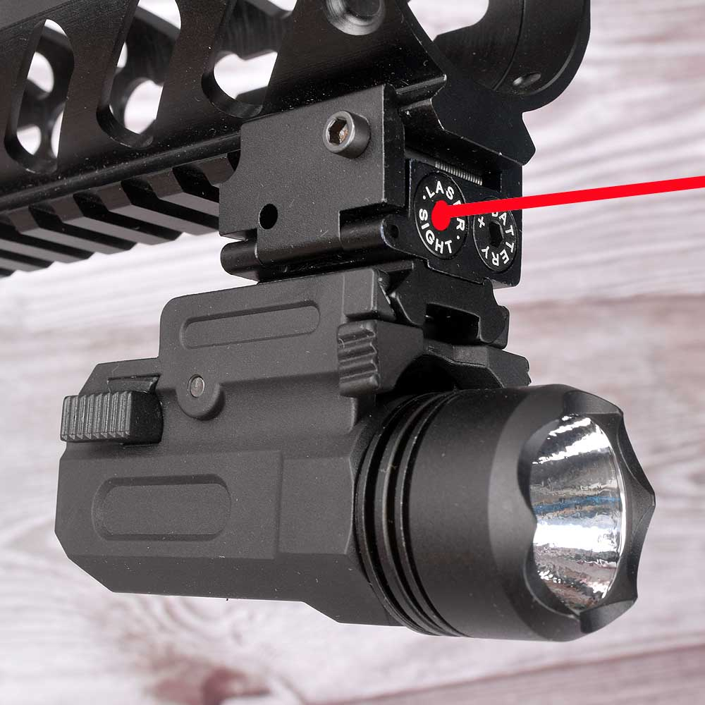 Rojo láser de punto de vista táctico Airsoft linterna para pistolas Combo LED táctico pistola antorcha para 20mm Glock 17 19 18C 24 P226
