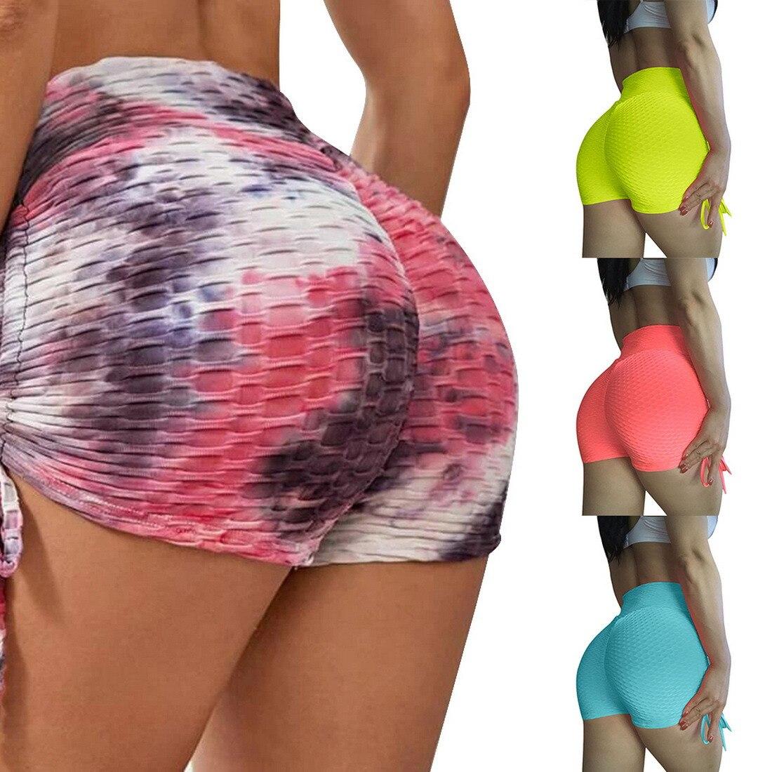 Упражнения для бега шорты для йоги 2021 тренировки для женщин с высокой талией облегающие тренажерные залы с высокой талией спортивная одежда компрессионные шорты для женщин
