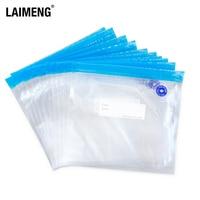 LAIMENG Reusable Vacuum Zipper Bags for Food Storage BPA free Film Air Valve Bags Kitchen Appliance Sous Vide Packing Bags P275