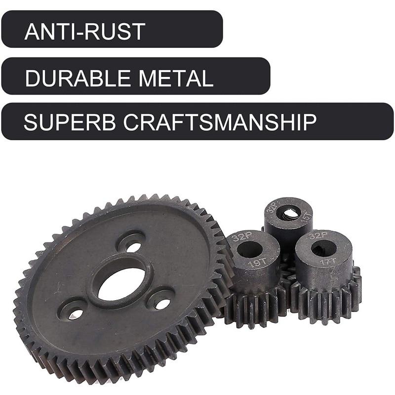 For Traxxas Slash 4X4 Stampede 4X4 Traxxas 1/10 Summit Traxxas Heavy Duty Hardened Steel Spur 54T Gear with 15T/17T/19T Pinion enlarge