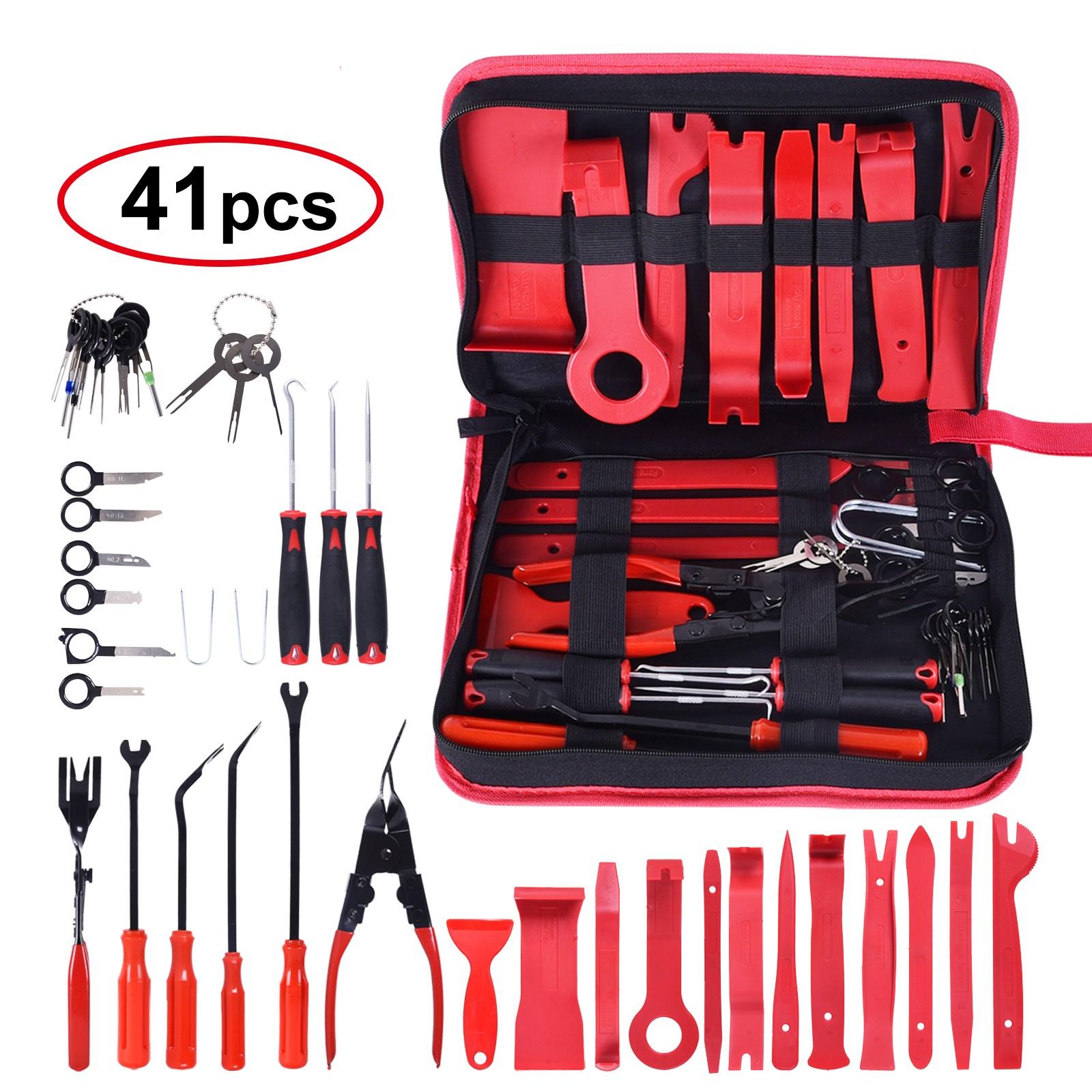 Набор инструментов для снятия отделки автомобиля, набор ручных инструментов для разборки салона двери, аудио отделки, 41 шт.