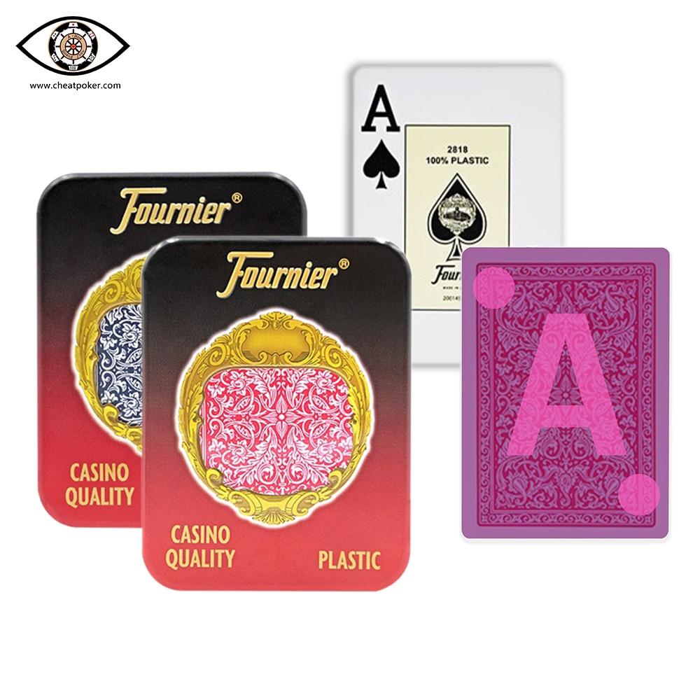 Cartas marcadas Fournier, póquer marcado infrarrojo para lentes de perspectiva, póker antitrampas, mazos de trucos de magia