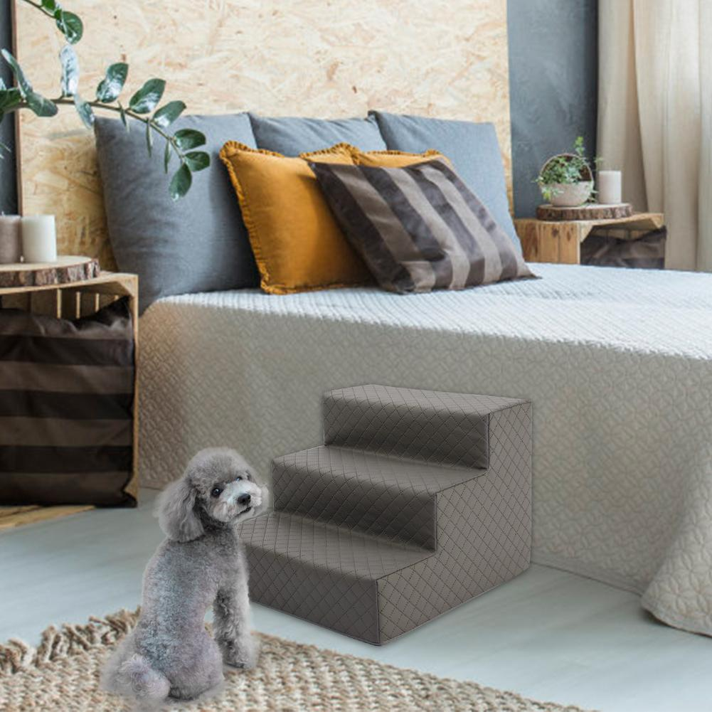 Escalera de perro mascota portátil lavable 3 capas mascota esponja antideslizante escaleras sofá cama para perro gato juguete suministros